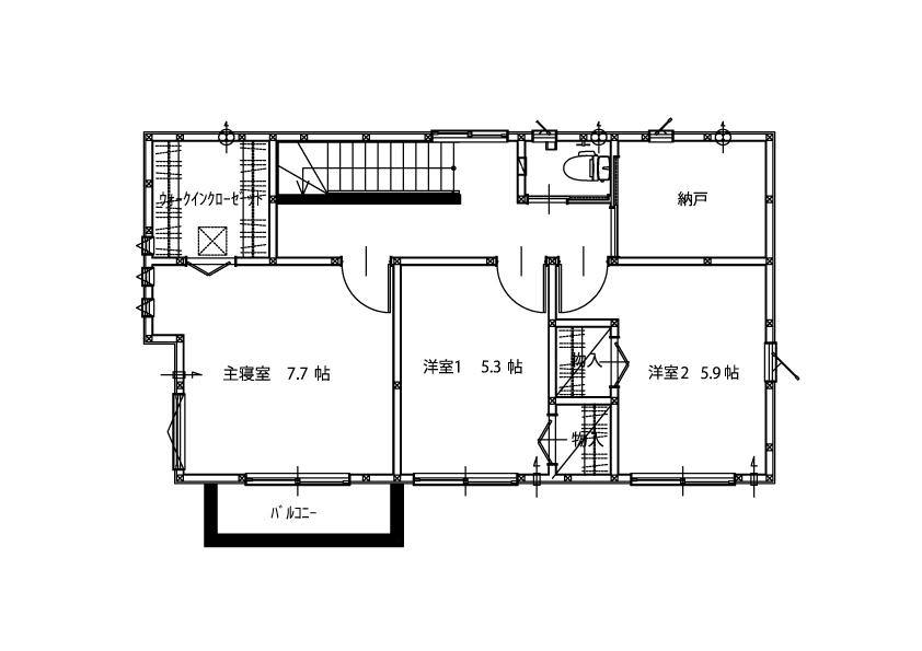 2階平面図(略)