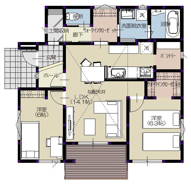 平屋1階 平面図